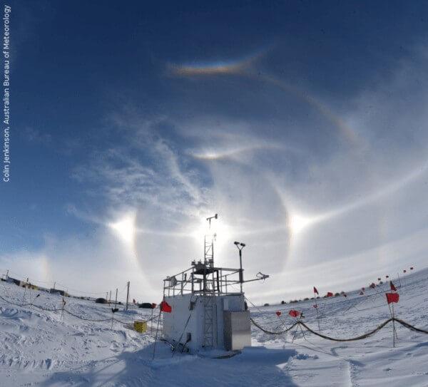 תחנת AWARE באנטארקטיקה.